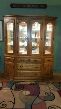 brown wooden framed glass display cabinet Arlington, 22204