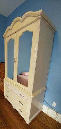 Armoire-Solid wood in good condition.  Toronto, M9A 4J8