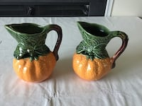 two brown and green ceramic mugs Reisterstown, 21136