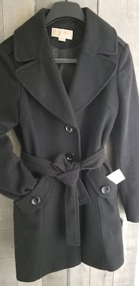 MICHEAL KORS BLACK WOOL COAT