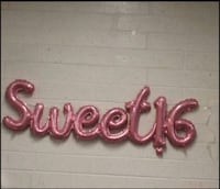 2 air filled sweet 16 cursive letter Balloon Banners. Mississauga, L5L 3A2
