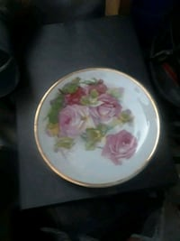 white and pink floral ceramic plate Lancaster, 93534