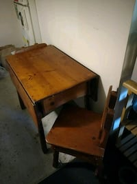 1915 Antique Table with 3 Chairs