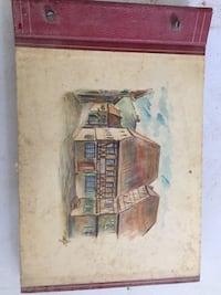 brown wooden framed painting of house Kernersville, 27284