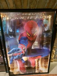 Large spiderman poster.