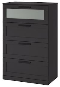 Chest of 4 drawers, black, frosted glass, 78x124 cm Toronto, M5V 3T5