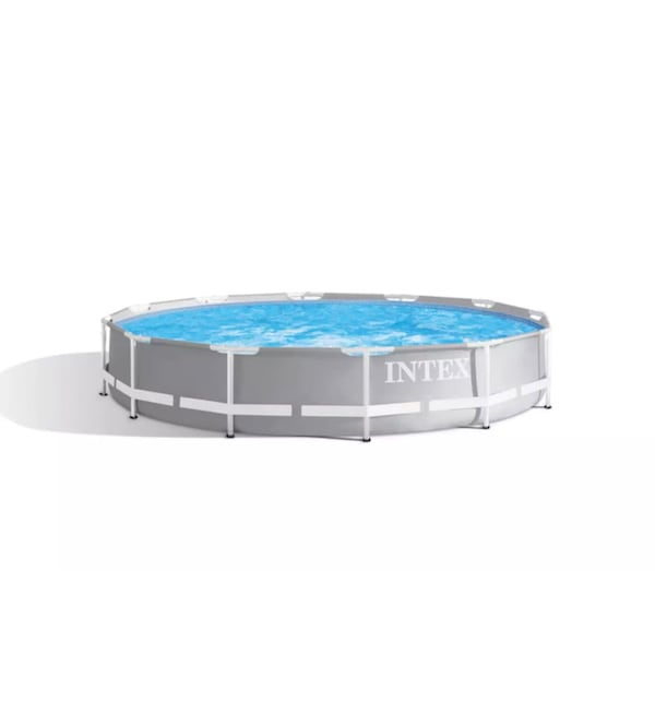 Intex 12ft x 30in Prism Metal Frame Above Ground Swimming Pool w/ Pump 40328894-9e73-40af-a98d-d5b58e0f8410
