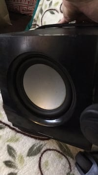 black and gray subwoofer speaker Los Angeles, 90036