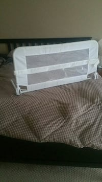 kid's white safety bed rail