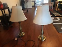 two white-and-brown table lamps Jacksonville, 32244