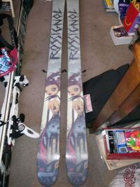 Mens and womans skis boots and bindings size 8 woman boots size 9.5 m