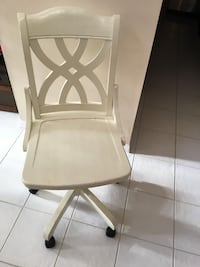 Used Off White Wood Computer Chair For Sale In Boca Raton