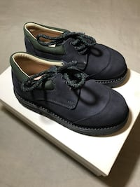 Brand-new Italian leather boys tie-up shoes