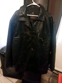 BLACK ITALIAN LEATHER COAT Fort Myers, 33967