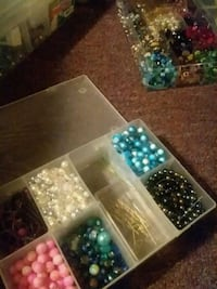 assorted color bead lot in box Virginia Beach, 23451
