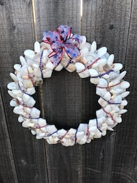 Holiday wreath. Hand-crafted with 200+ local seashells.