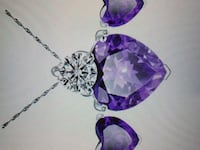 Sterling necklace and crystal heart pendant