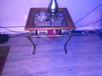 brown wooden framed glass top coffee table Tukwila, 98168