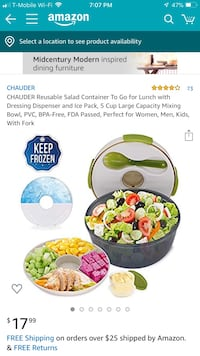 CHAUDER Reusable Salad Container To Go for Lunch