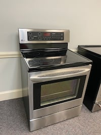 LG STAINLESS STEEL GLASS TOP STOVE 4 MONTH WARRANTY