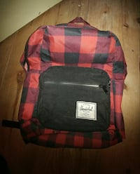 black and red checked Herschel backpack