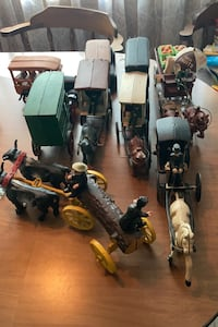 Cast iron horse and buggies  Ask me for details about certain ones