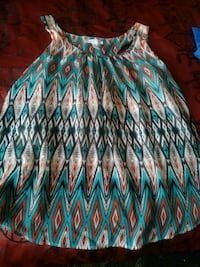 green, blue, and red chevron print skirt El Paso, 79907
