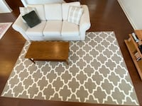 Hide-a-bed couch, coffee table and rug Montvale, 07645