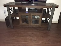 Brown wooden tv stand Houston, 77065
