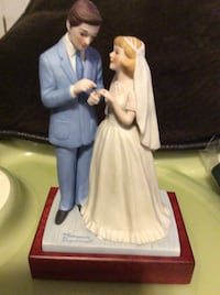 JUST REDUCED MORE bride and groom Norman Rockwell  Rockville