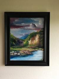 Scenic painting with frame Vancouver, 98683
