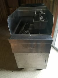 Used Hotdog Cart Stainless Steel With Grill Attached For