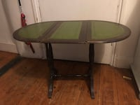 Oval green wooden coffee table London, SE27
