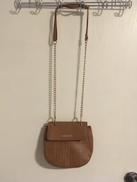 Rampage Bag with Gold Chain/Detailing in Cognac London, N6G