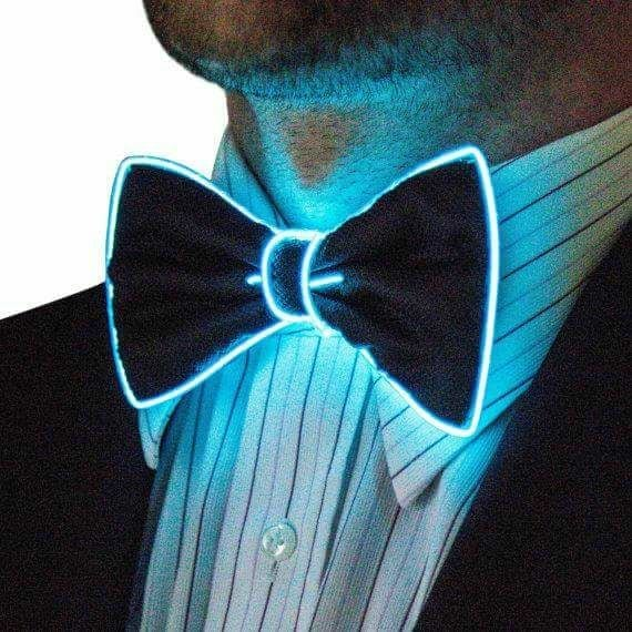 Blue LED Bow Tie