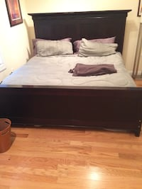 With dings and scratches, King Size Bed with Mattress Washington
