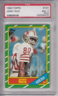 1986 Topps Jerry Rice Rookie Card PSA 7 (OC)