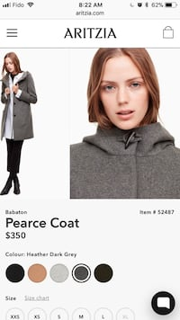 Xxs aritzia peacoat (fits like small) North Vancouver, V7J