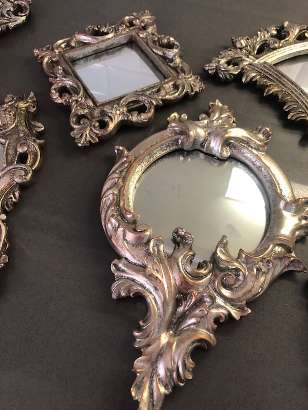 Sold Small Antique Mirrors Set Of 7 In