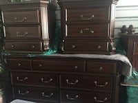 Bedroom set cherry hardwood. Owned by a home staging company. Items have never been used Torrance, 90277