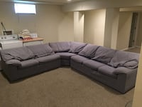 3 piece gray sectiona couch Smoke free home
