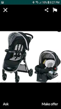 car seat, base and stroller lightweight travel system  Minneapolis, 55412