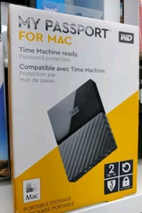 WD My passport For mac_2Tb storage brand new