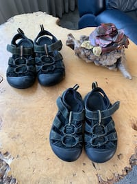 Black Keen size 6 & 7 Kids Sandals /Shoes