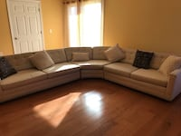 white and gray sectional couch New York, 11221