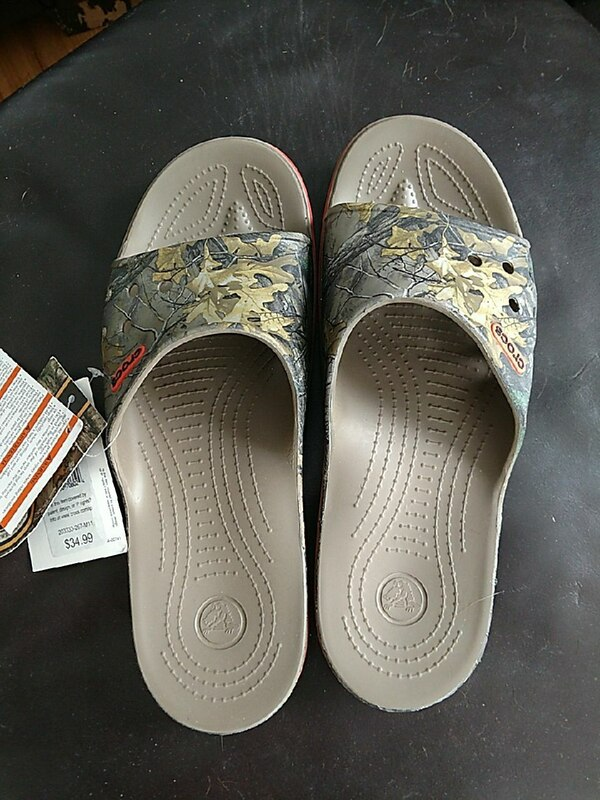 32fcb1944ccb15 Used Men s size 11 croc sandals Realtree for sale in Bay City - letgo