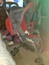 baby's gray and red stroller 615 km