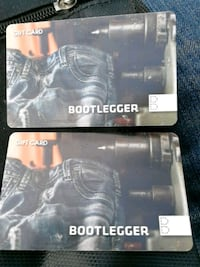 2-$50 bootlegger giftcards my Vancouver, V6B 2M6