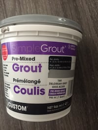 Pre-mixed grout for tiles. Delores grey Winnipeg, R2M