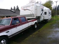 classic white and maroon Ford F-350 crew cab and w Washougal, 98671